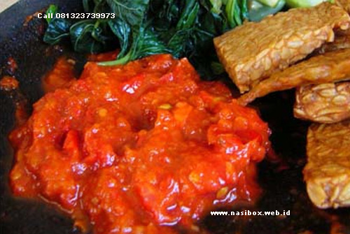 Resep sambal tomat ala nasi box kawah putih ciwidey