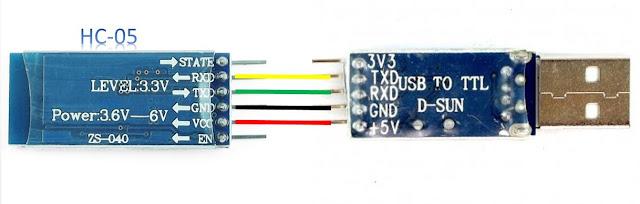Komunikasi HC-05 dengan PL2303