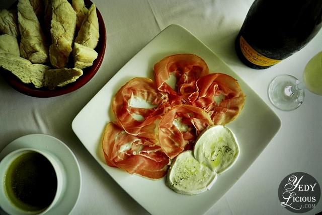 Prosciutto de Parma with Buffalo Cheese