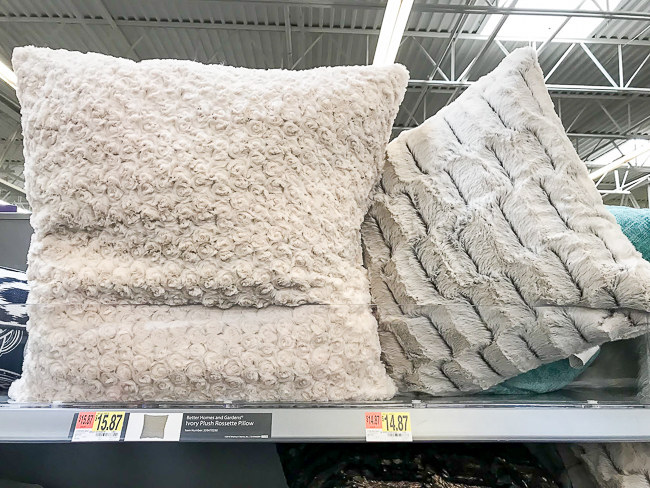 Soft and cozy Walmart throw pillows