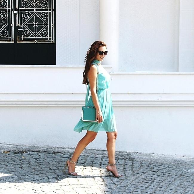 Jelena Zivanovic Instagram @lelazivanovic.Glam fab week.Best mint outfits.Best summer outfits.Najbolji letnji outfiti.