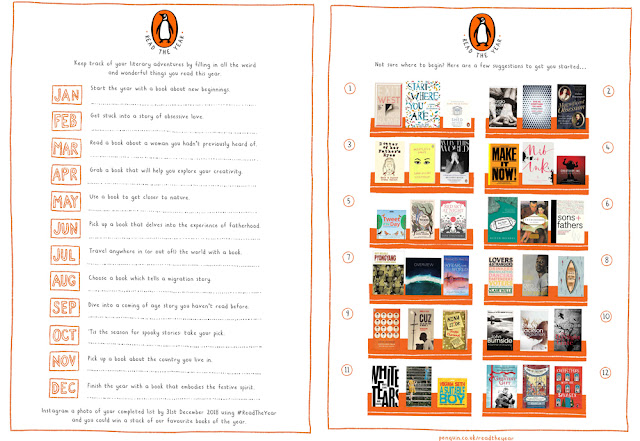 Read the Year with Penguin - Free Reading Challenge Printable