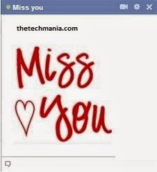 facebook chat emotions I Miss You