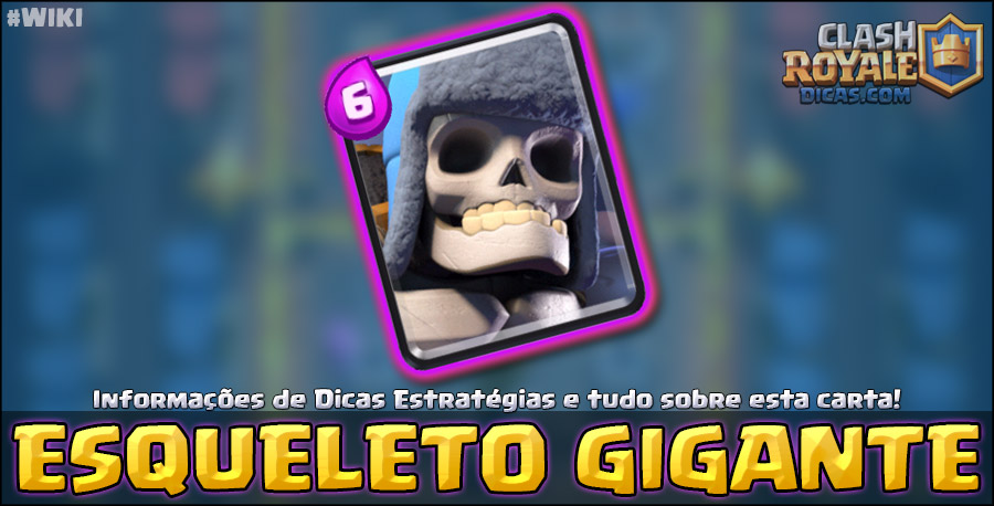 Carta do Esqueleto Gigante em Clash Royale