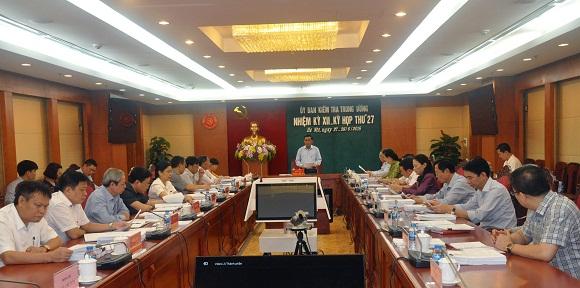 Thông cáo báo chí Kỳ họp 27 của Ủy ban Kiểm tra Trung ương