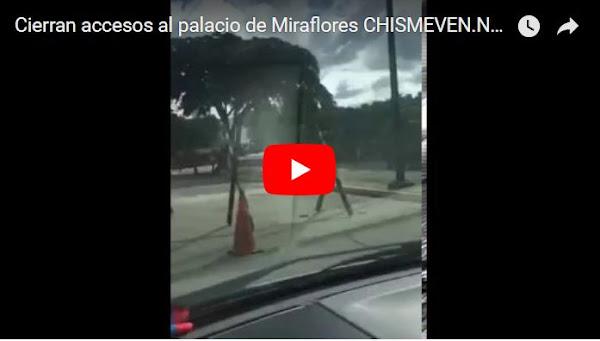 Todos los accesos a Miraflores fueron cerrados por el ejército