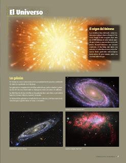 Apoyo Primaria Atlas de Geografía del Mundo 5to. Grado Capítulo 1 Lección 1 El Universo, El Origen del Universo, Las Galaxias