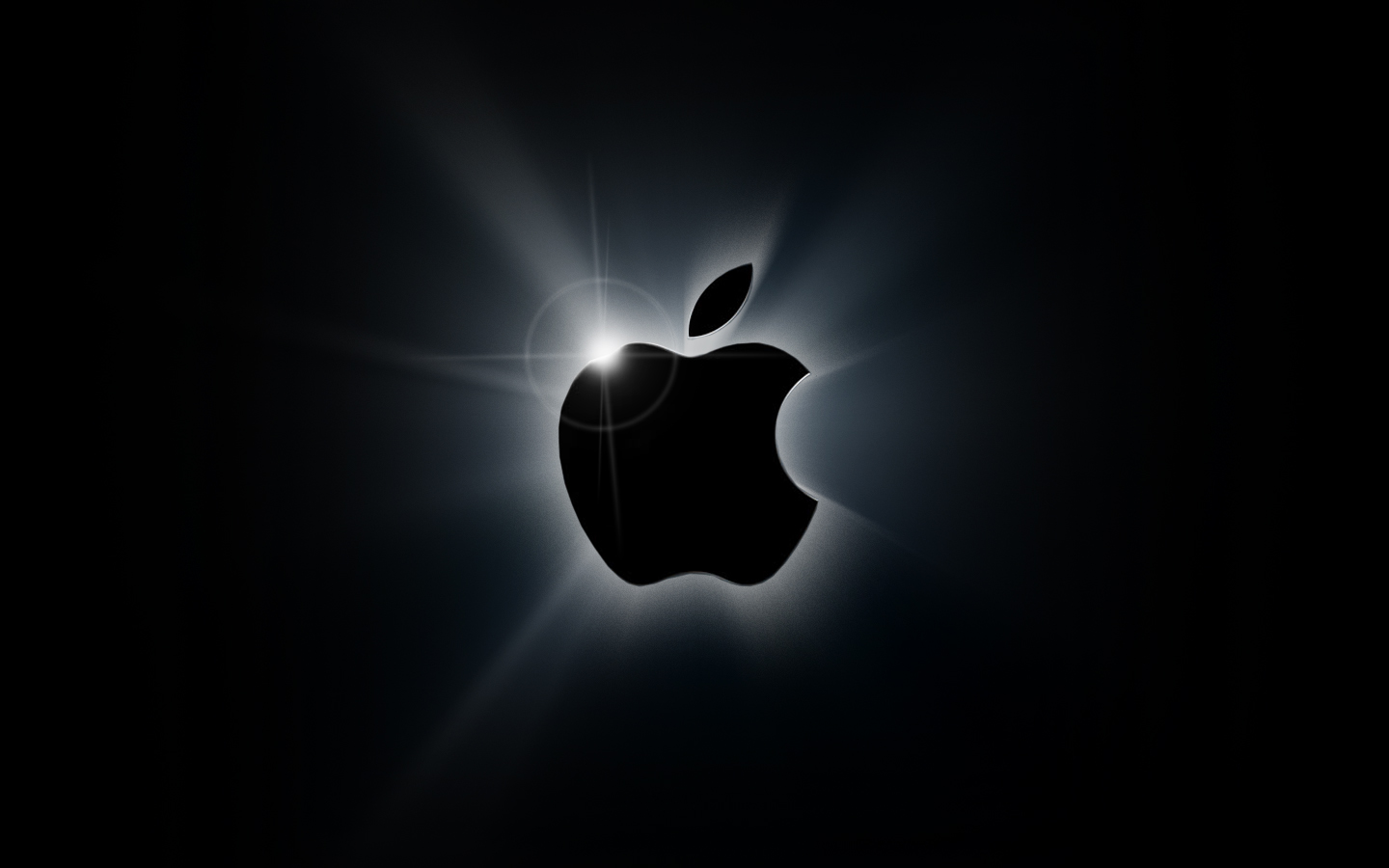 Wallpaper Mansion: Apple Black Logo Wallpaper