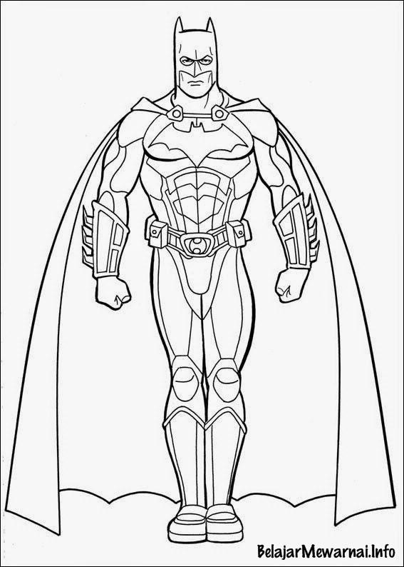 Gambar Mewarnai Batman  Gambar Mewarnai Lucu
