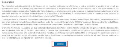 Tata Mutual Fund - Investment Declaration