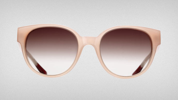 Triwa 2012 Peach Thelma sunglasses: adding colour by SupaKitch and Koralie