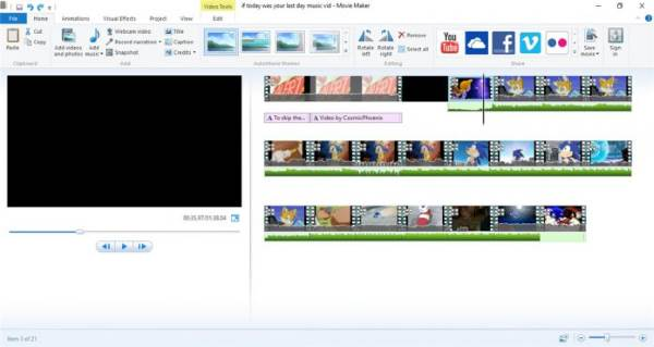 Windows Movie Maker - 11 Software Video Editor Terbaik Untuk Windows