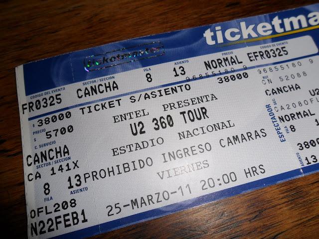 U2 no Estádio Nacional do SANTIAGO DE CHILE- Uma prisão durante a ditadura de Pinochet | Chile