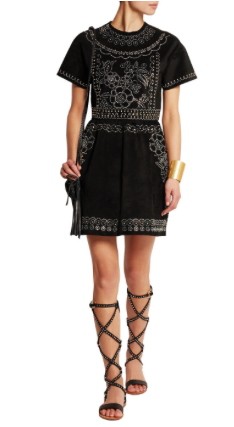Valentino studded suede mini dress SS 2014