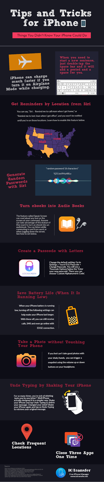Infografis Tips Trik iPhone