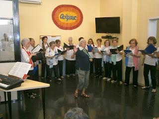 Concert de la Coral de gent gran de les Corts Les veus del camí