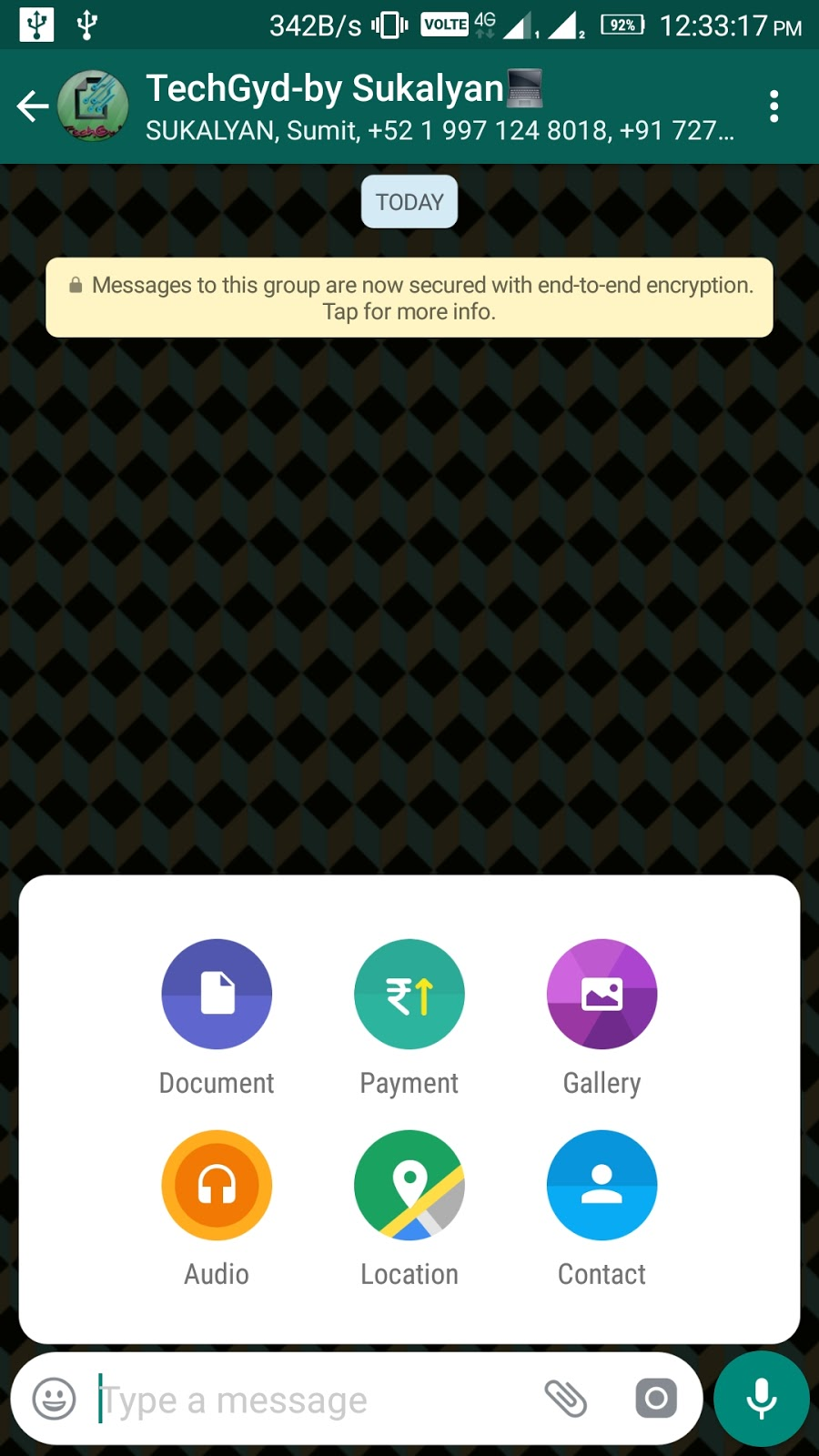 enable whatsapp payment