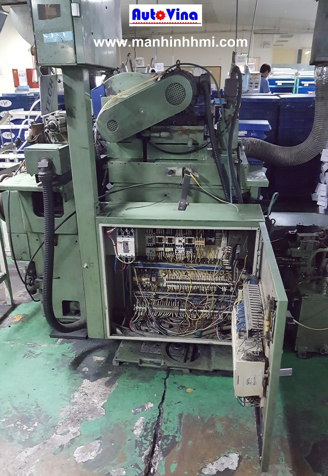 Sửa chữa tủ điện máy mài tự động dùng PLC FX1-64MR, FX1-80MR cùng Module FX-16EX