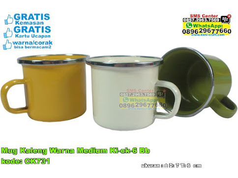 Mug Kaleng Warna Medium Kick6 Bb