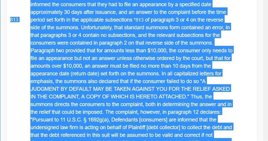 Consumer Debt Litigation Mostly Texas Fdcpa Class Action