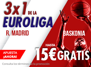 suertia promocion Real Madrid vs Baskonia 19 octubre