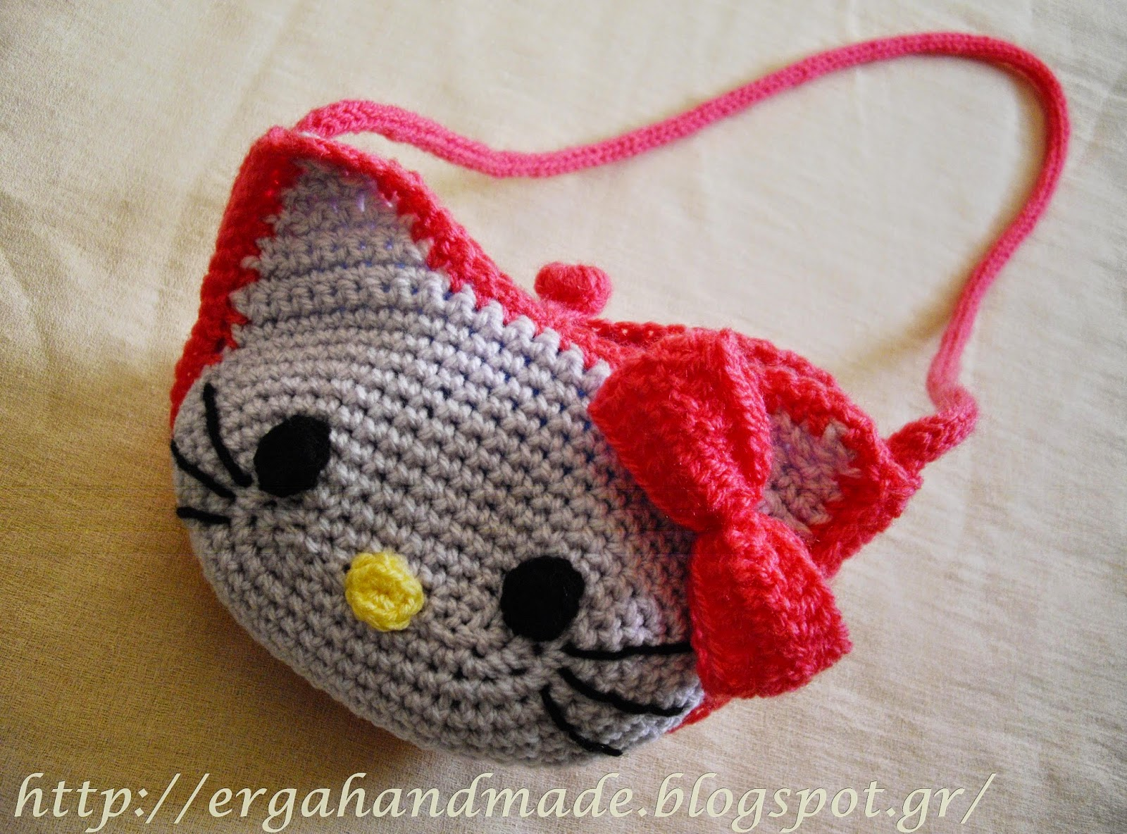 Ergahandmade Hello Kitty Crochet Bag