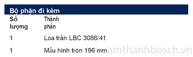 Loa trần LBC 3086/41