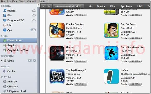 Itunes Store iTunes per Windows XP