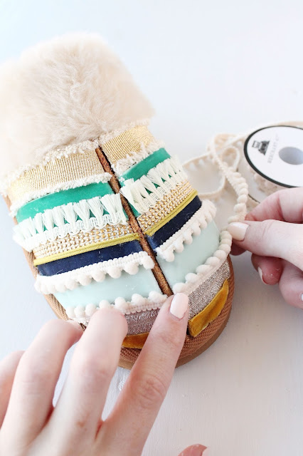Make Tassel Trimmed Slippers