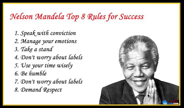 Nelson Mandela Top 8  inspiring  Rules for Success