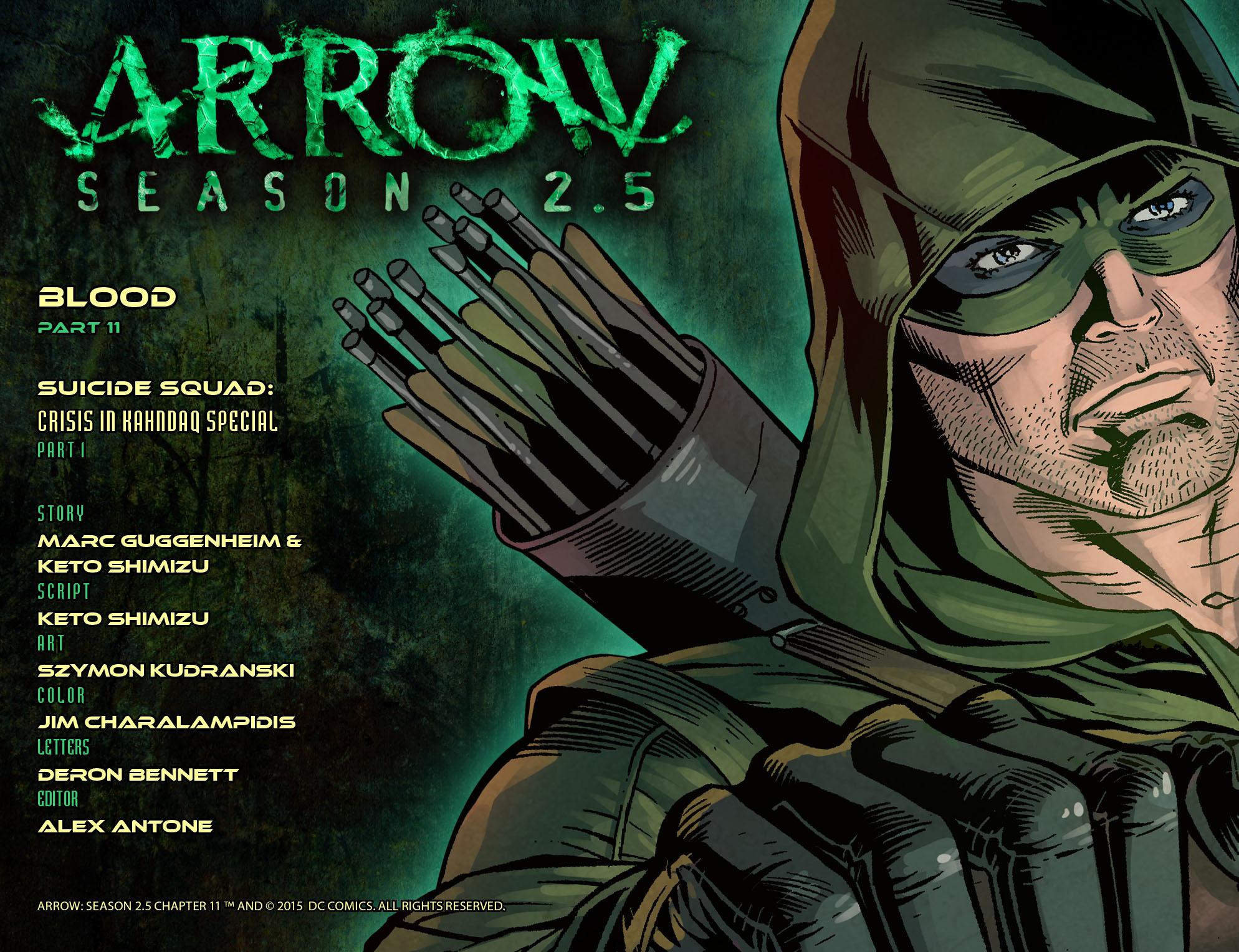 Read online Arrow: Season 2.5 [I] comic -  Issue #11 - 2