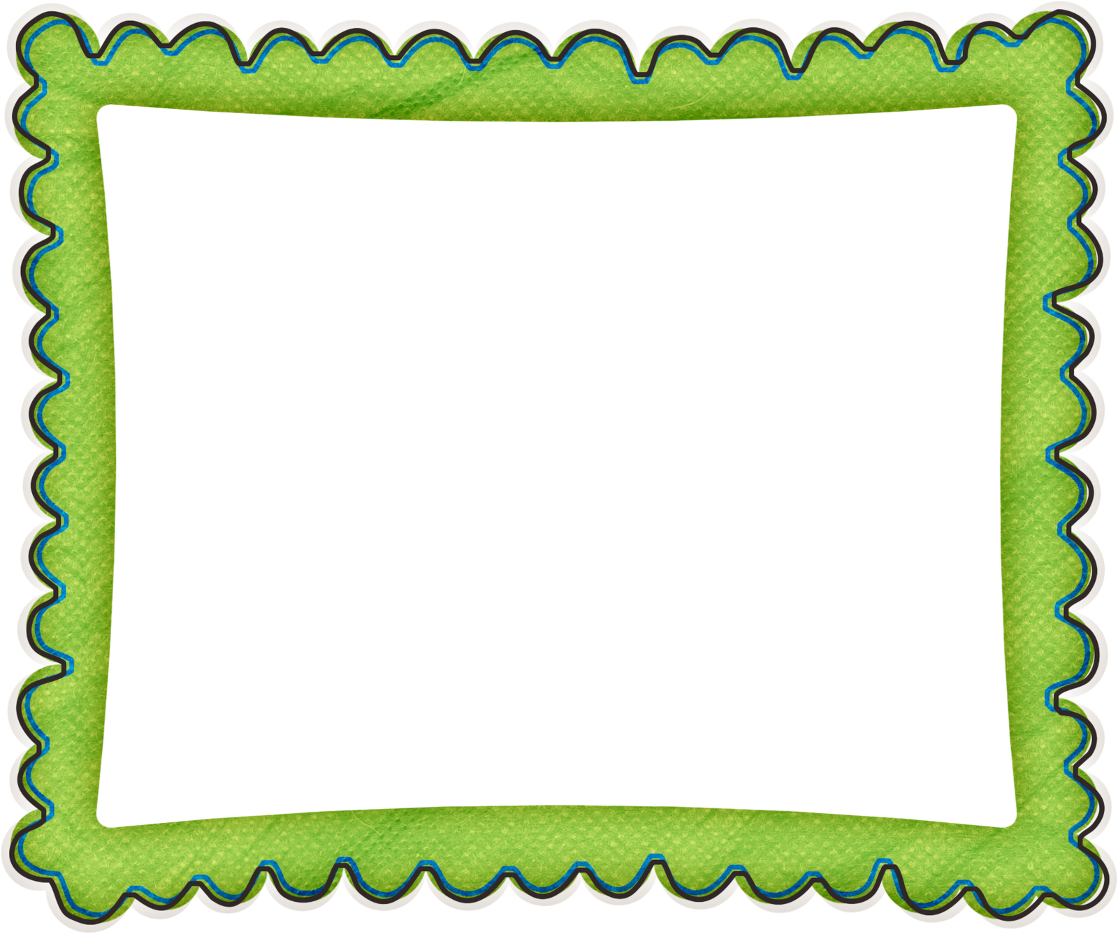 photo about Printable Frames named Wavy Border: Absolutely free Printable Frames, Borders and Labels. Oh