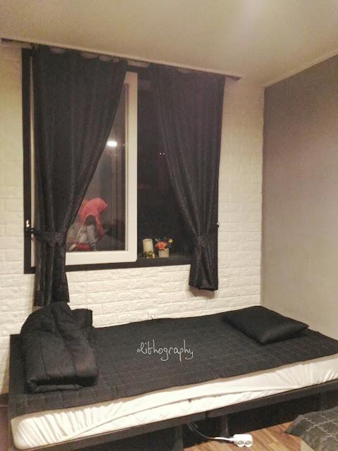 kamar di muslim stay, akomodasi ramah muslim di itaewon seoul