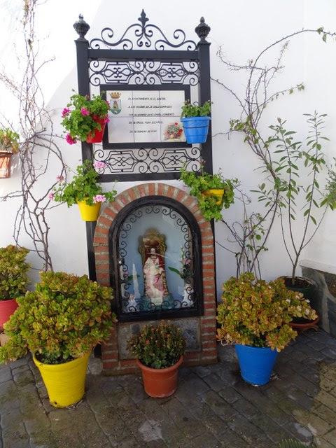 altar el gastor cadiz adornos macetas andalucia corpus christis