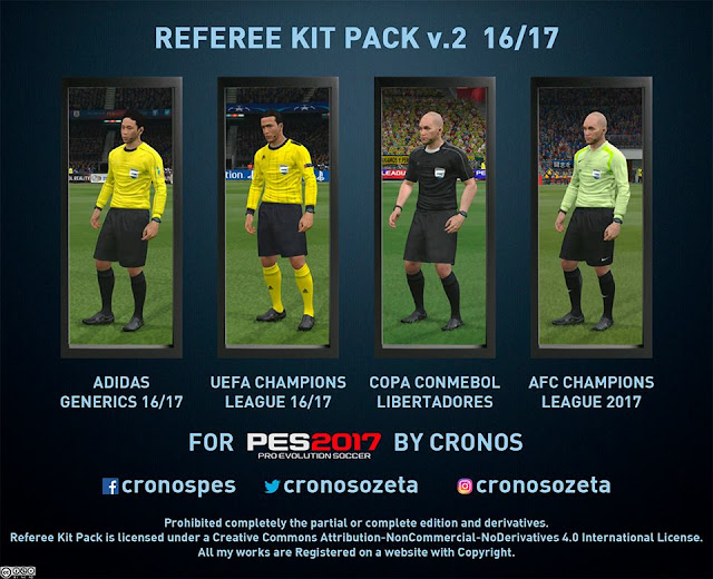 PES 2017 Referee Kit Pack V2 dari Cronos