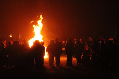 Bonfire at Landis Valley Museum.
