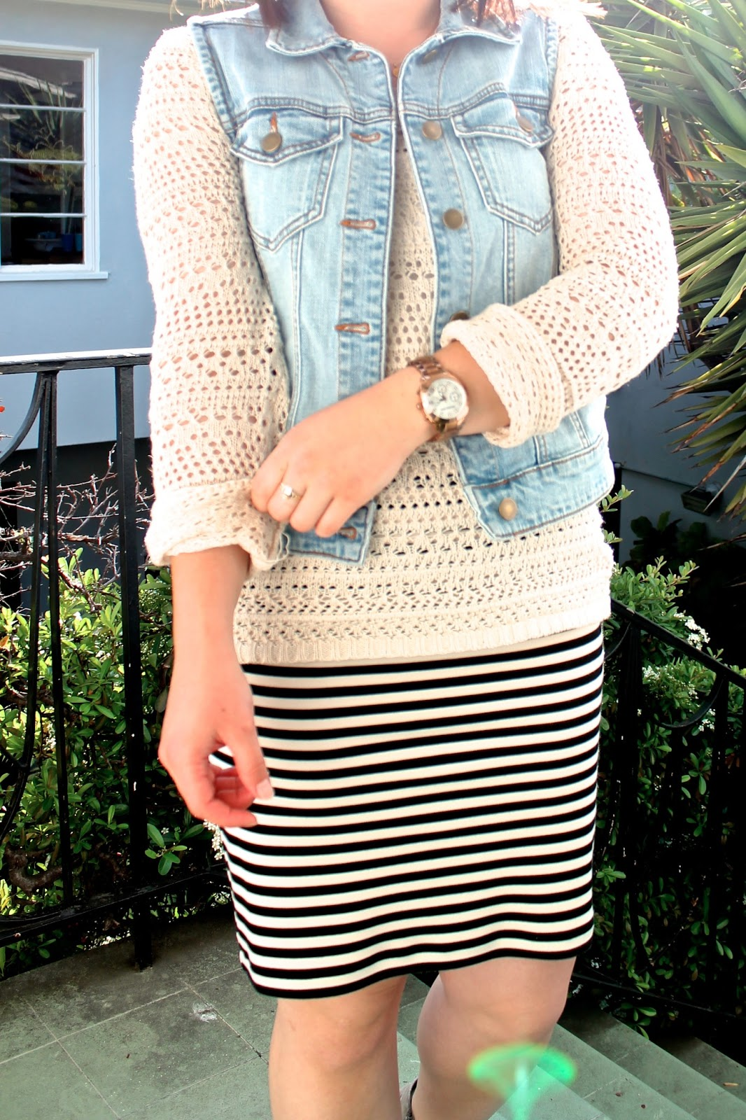 mixing denim-stripes-crochet