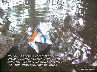 Bagyong Maring paper boat