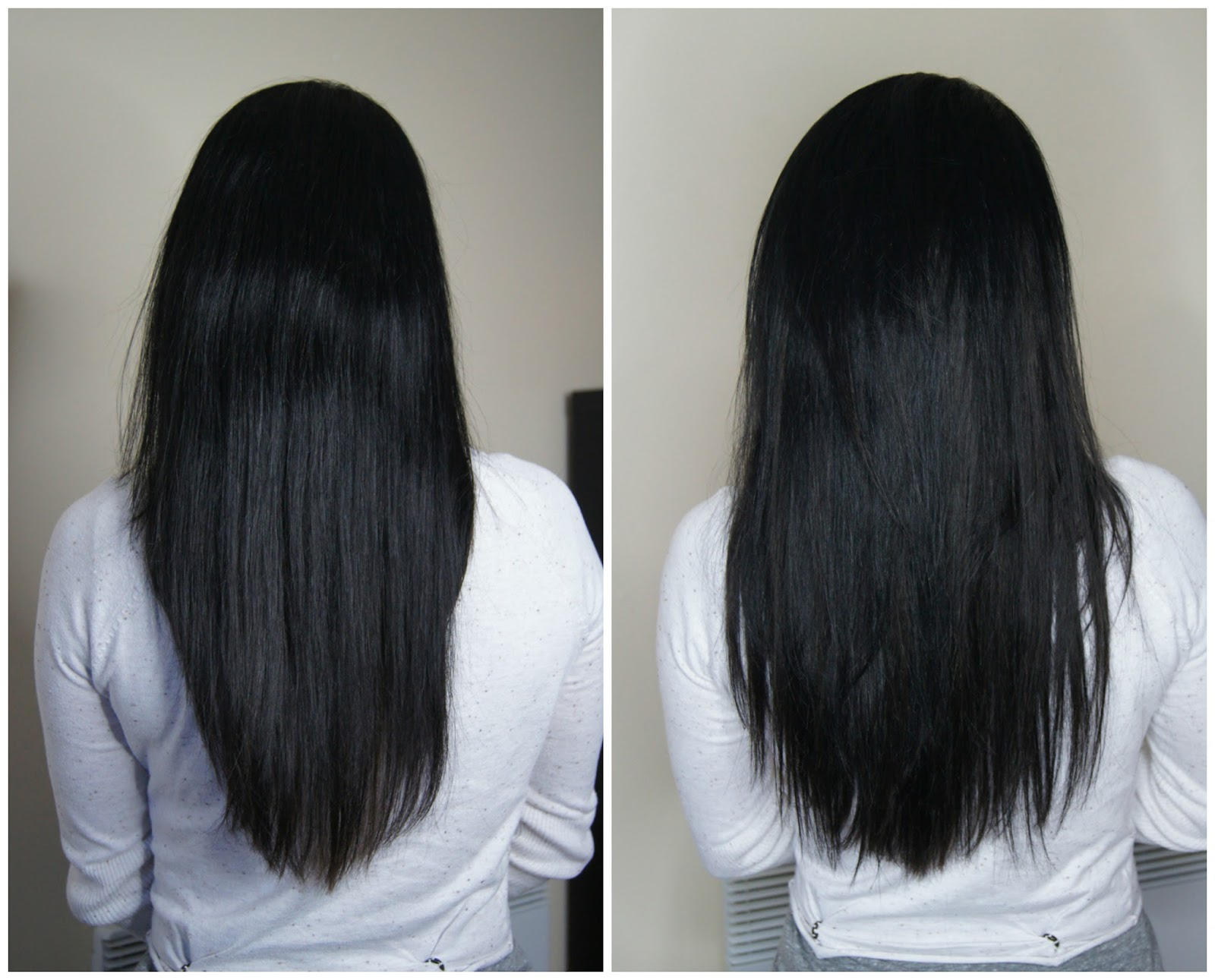 irresistible me silky touch clip-in extensions review before after photos