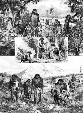 Kehidupan dan kegiatan berburu dan meramu tingkat awal