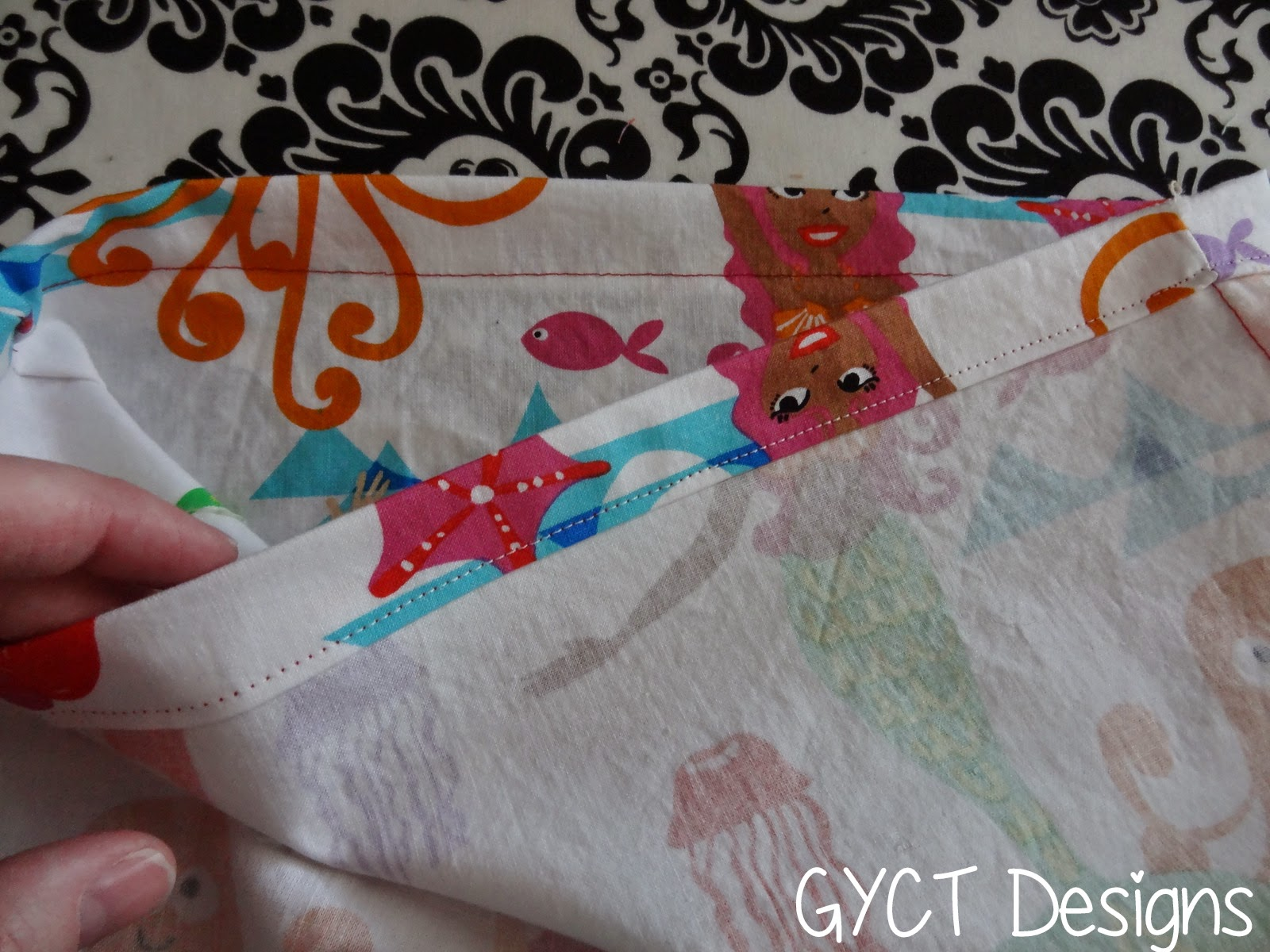 FREE Drawstring Tote Bag Tutorial by GYCT