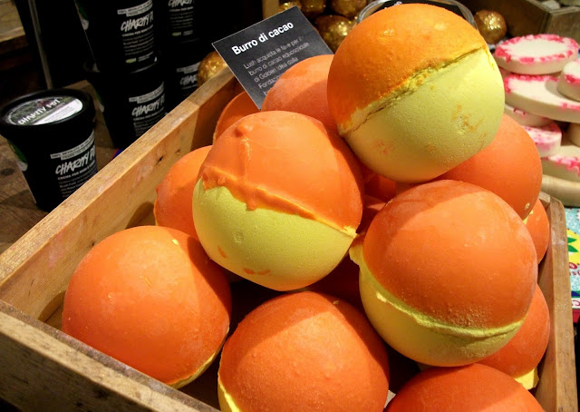 Over and Over, Lush Cosmetics bath bomb melt with fair-trade cocoa butter