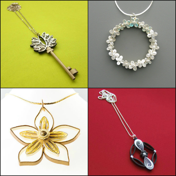 quilled necklaces