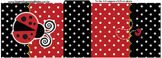 Ladybug Party Free Printable Tic Tac Labels.
