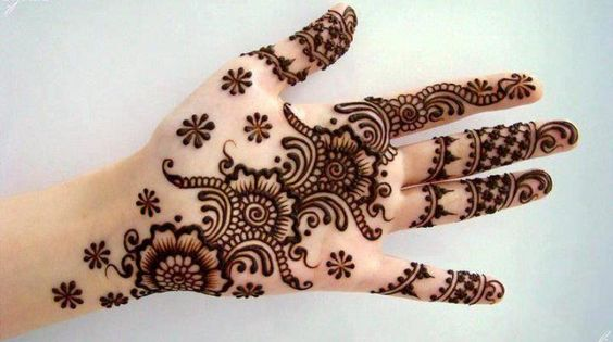 Mehndi Flower Image : Stunning flower mehndi designs for eid bling sparkle