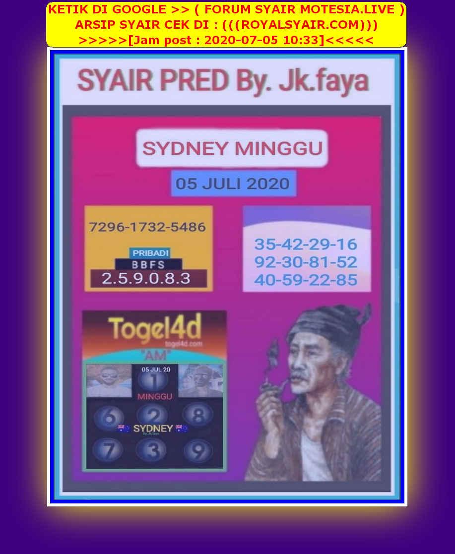 Kode syair Sydney Minggu 5 Juli 2020 32