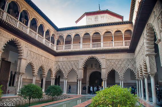 El patio de las doncellas. Reales Alcázares de Sevilla. 10 visitas imprescindibles de Sevilla