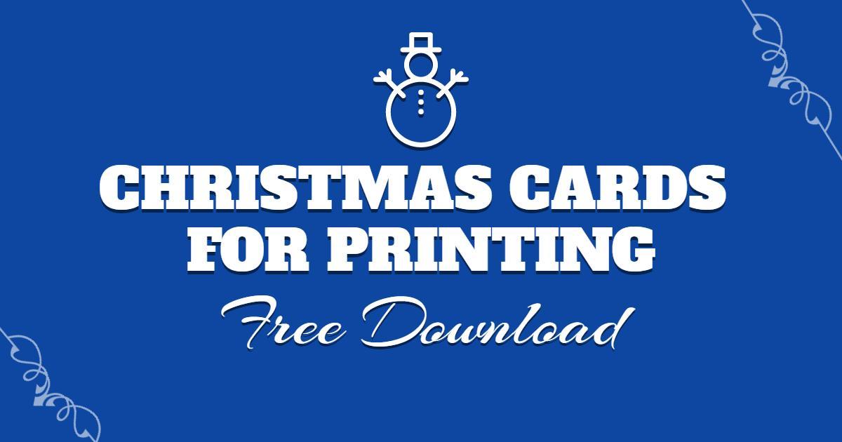 Free Print Christmas Card Download