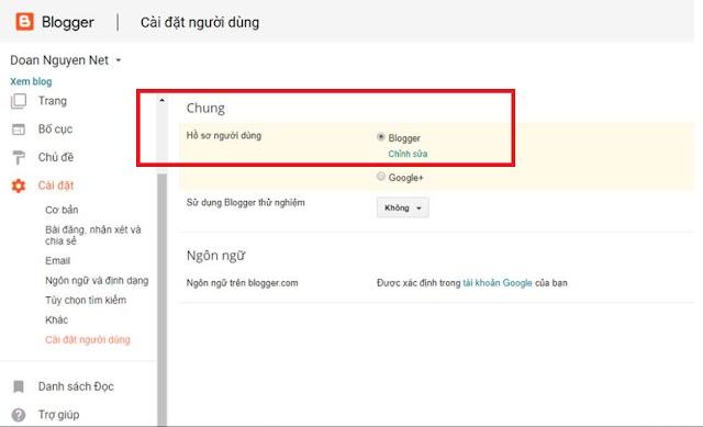 Cách chuyển từ hồ sơ Google + sang hồ sơ Blogger profile trong một nốt nhạc