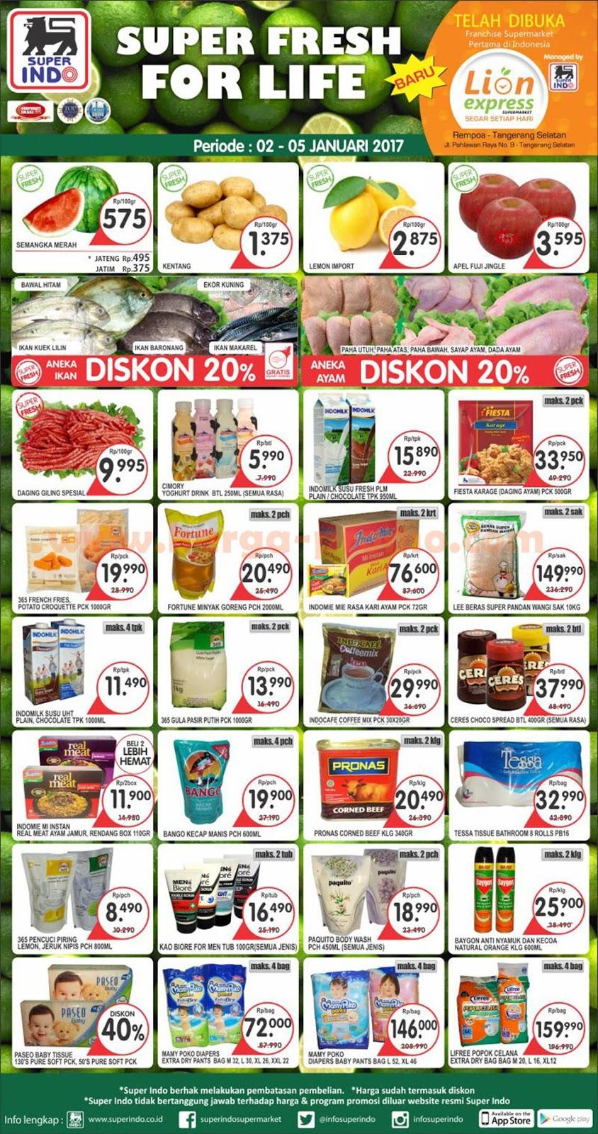 Katalog Promo SUPER INDO Terbaru Weekday Periode 02 - 05 Januari 2017